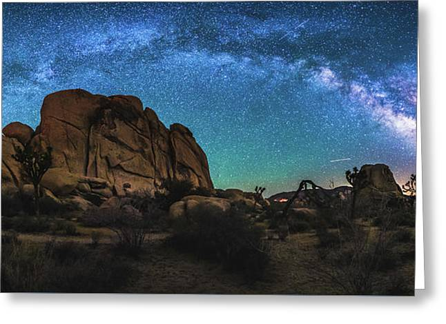 Hidden Valley Milky Way Panorama Greeting Card