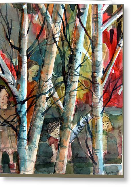 Hide And Go Seek Greeting Card by Mindy Newman