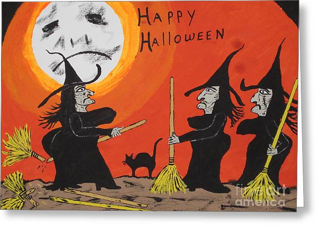 Hide The Halloween Candy Greeting Card by Jeffrey Koss