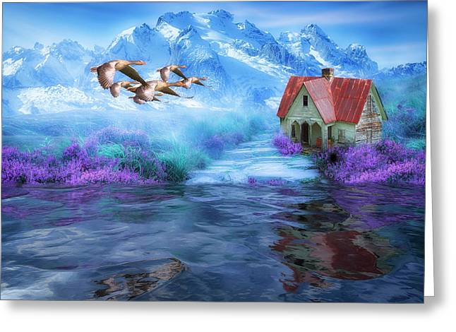 Hideaway In The Mountains Greeting Card