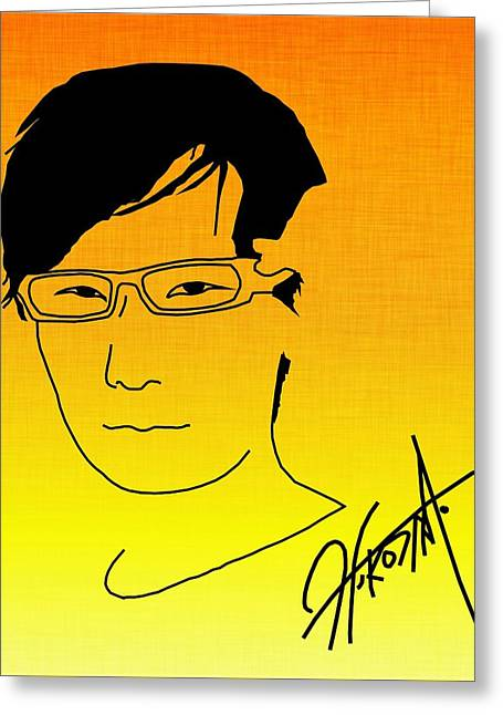 Hideo Kojima Greeting Card by Kyle West