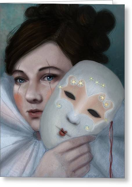 Hiding Behind Masks Greeting Card