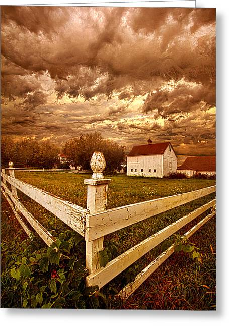 Hiding Like The Sun Behind The Clouds Greeting Card by Phil Koch