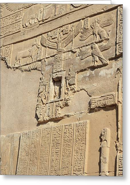Greeting Card featuring the photograph Hieroglyphic by Silvia Bruno