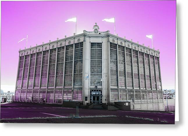 Higgins Armory In Infrared Greeting Card