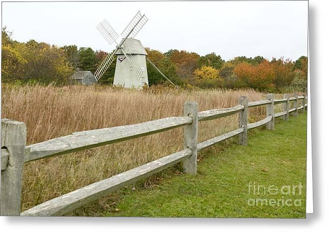 Higgins Farm Windmill Brewster Cape Cod Greeting Card