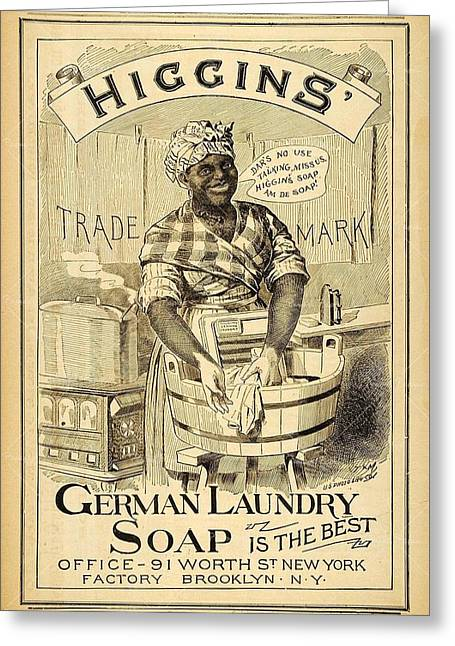 Higgins German Laundry Soap Greeting Card