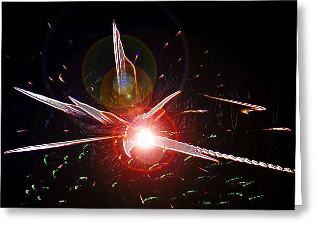 Large Hadron Collider Greeting Cards - Higgs Boson work B Greeting Card by David Lee Thompson