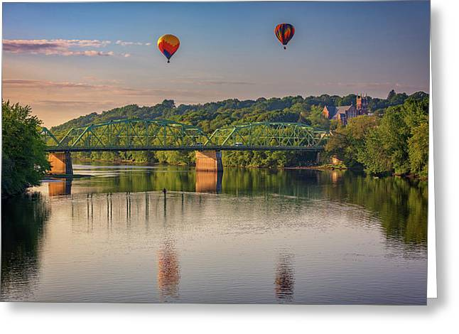 High Above The Androscoggin Greeting Card