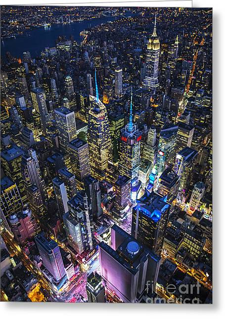 High Above The City Greeting Card
