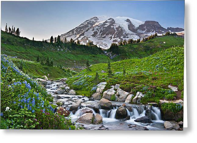 High Alpine Summer Greeting Card by Thorsten Scheuermann