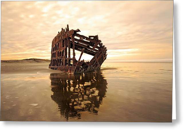 High And Dry, The Peter Iredale Greeting Card