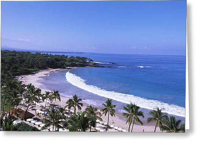 High Angle View Of A Beach, Mauna Kea Greeting Card by Panoramic Images