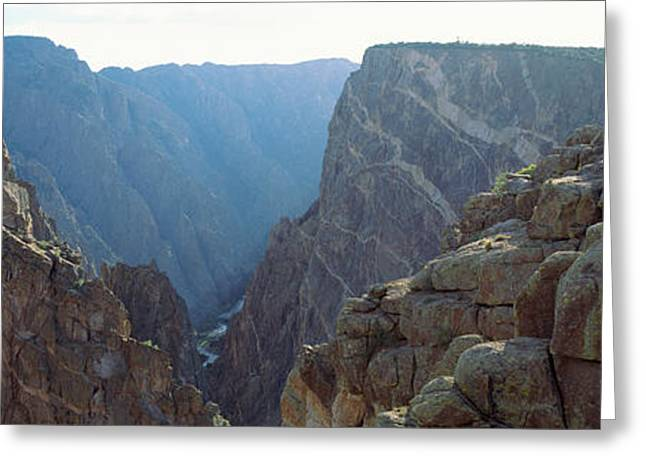 High Angle View Of A Canyon, Black Greeting Card by Panoramic Images