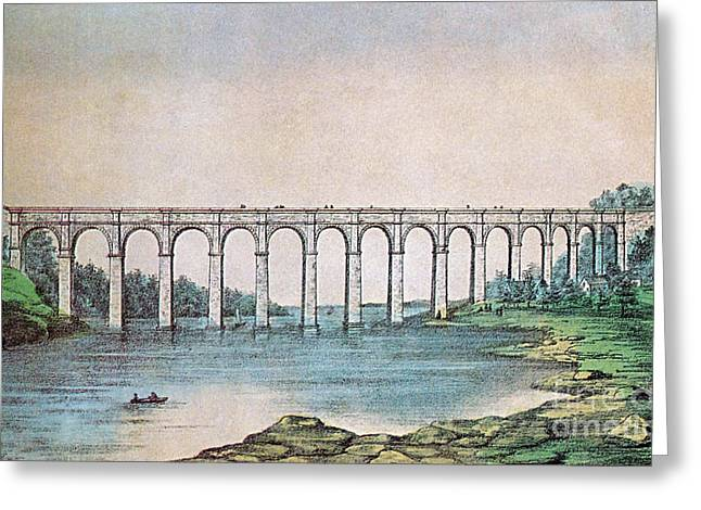 High Bridge, New York, 19th Century Greeting Card by Photo Researchers