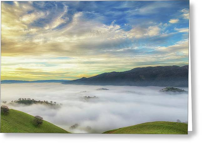 High Clouds Above Fog Greeting Card