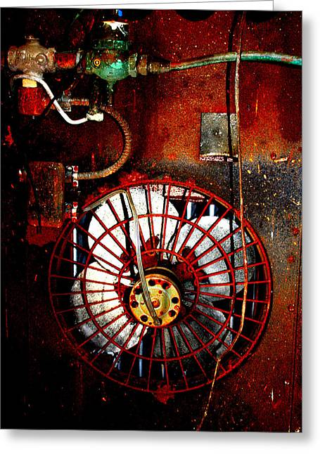 High Contrast Fan Greeting Card by Dana  Oliver