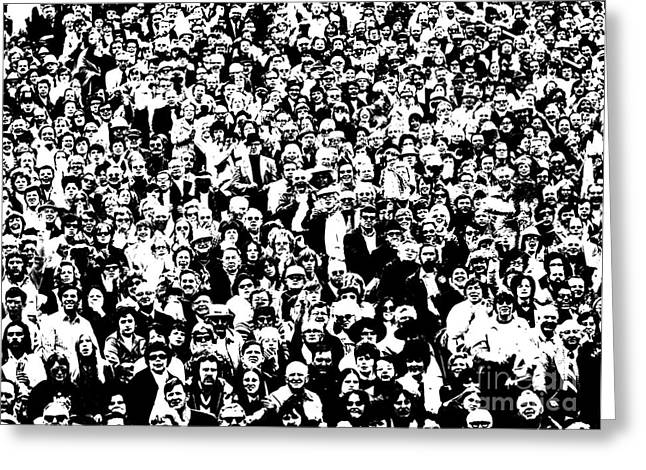High Contrast Image Of Crowd, C.1970s Greeting Card by R. Krubner/ClassicStock