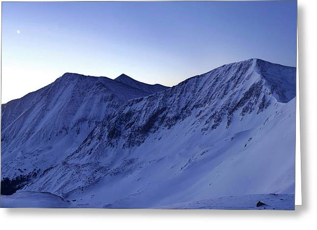 High Country Twilight Panorama - Triptych Left Greeting Card by Mike Berenson