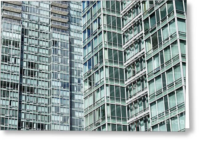 High Density Living Vancouver Greeting Card by John  Mitchell