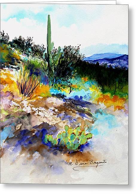 High Desert Scene Greeting Card by M Diane Bonaparte