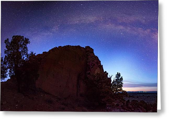 High Desert Dawn Greeting Card by Leland D Howard