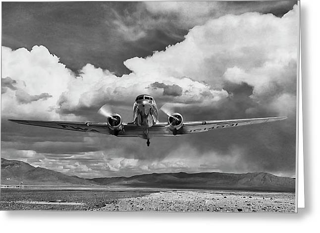High Desert Dc-3 Greeting Card