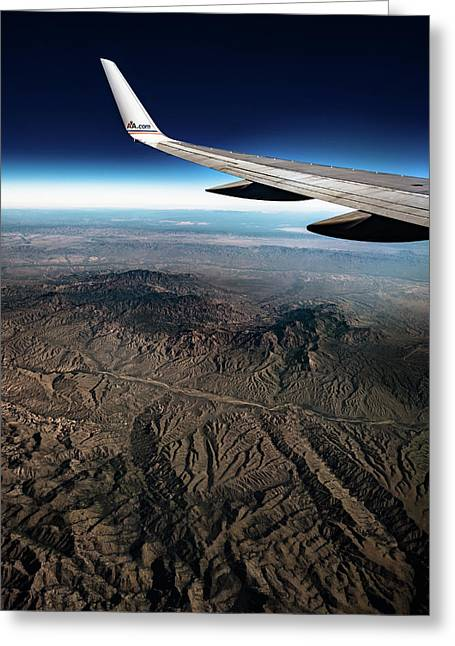 High Desert From High Above Greeting Card
