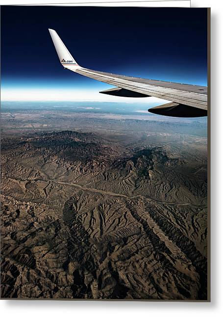 Greeting Card featuring the photograph High Desert From High Above by T Brian Jones