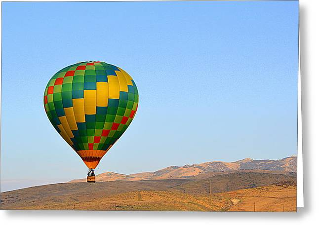 Greeting Card featuring the photograph High Desert Morning by AJ Schibig