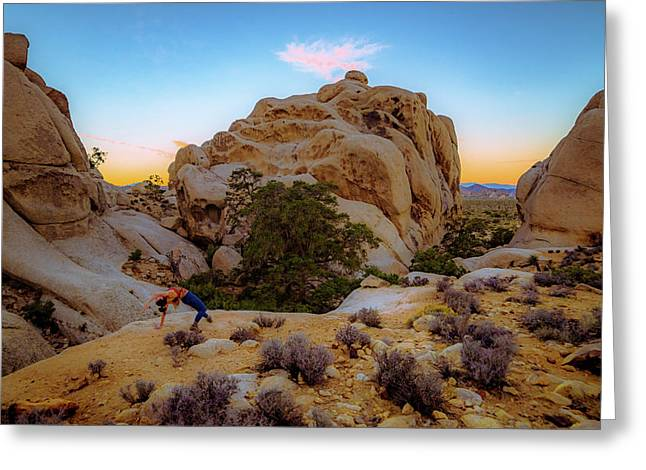 Greeting Card featuring the photograph High Desert Pose by T Brian Jones