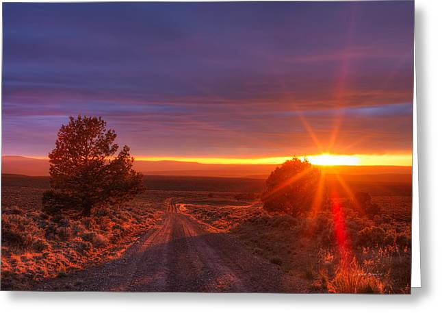 High Desert Road Greeting Card