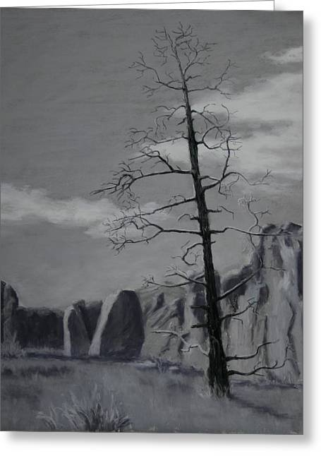 Greeting Card featuring the painting High Desert Skeleton by Nancy Jolley