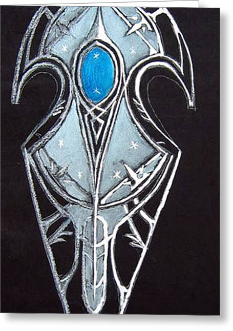 High Elven Warrior Shield  Greeting Card