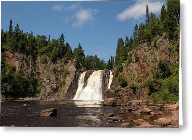High Falls At Tettegouche State Park Greeting Card