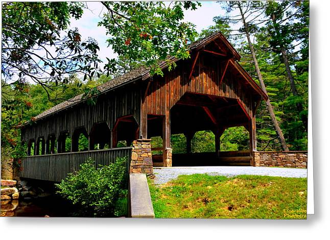 High Falls Covered Bridge Greeting Card