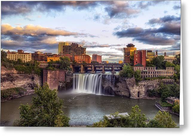 Greeting Card featuring the photograph High Falls Crop by Mark Papke