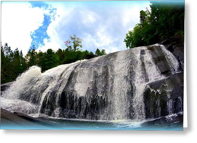High Falls Dupont State Forest Greeting Card by Lisa Wooten