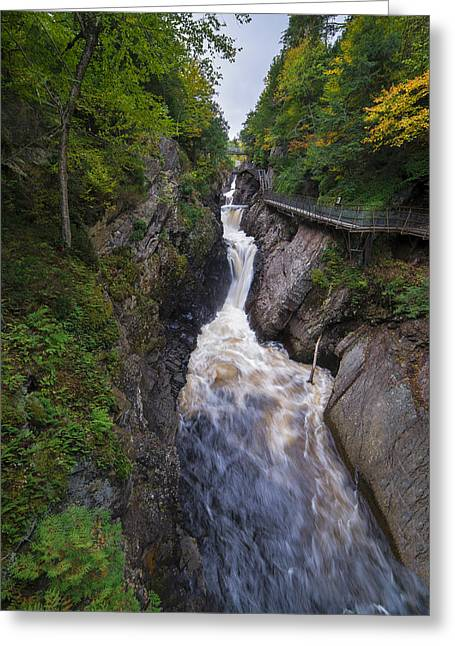 Greeting Card featuring the photograph High Falls Gorge Adirondacks by Mark Papke