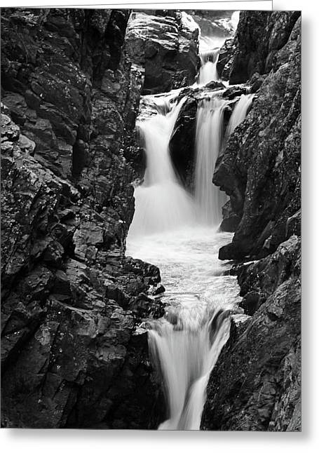 High Falls Gorge Black And White Greeting Card