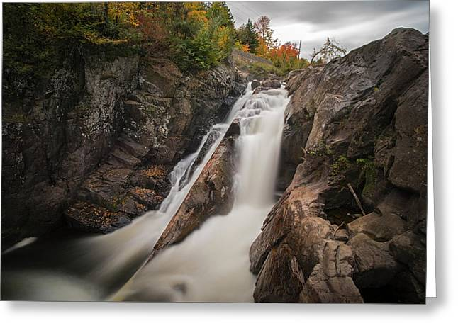 High Falls Gorge Wilmington Ny New York First Waterfall Greeting Card