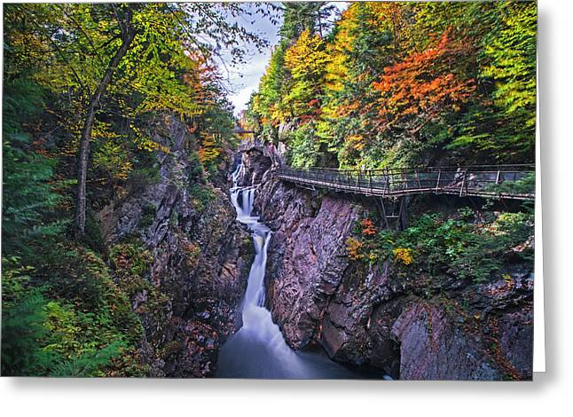 High Falls Gorge Wilmington Ny New York Greeting Card