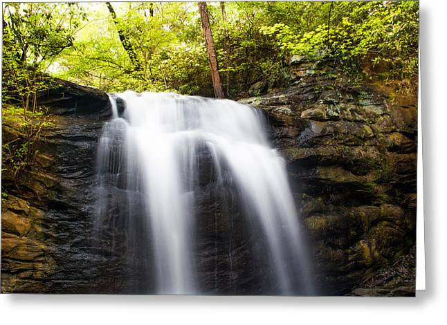 High Falls In Spring Greeting Card by Shelby  Young