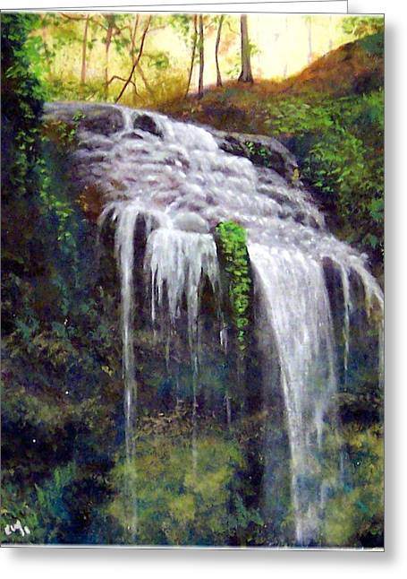 High Falls Greeting Card by Kenneth McGarity