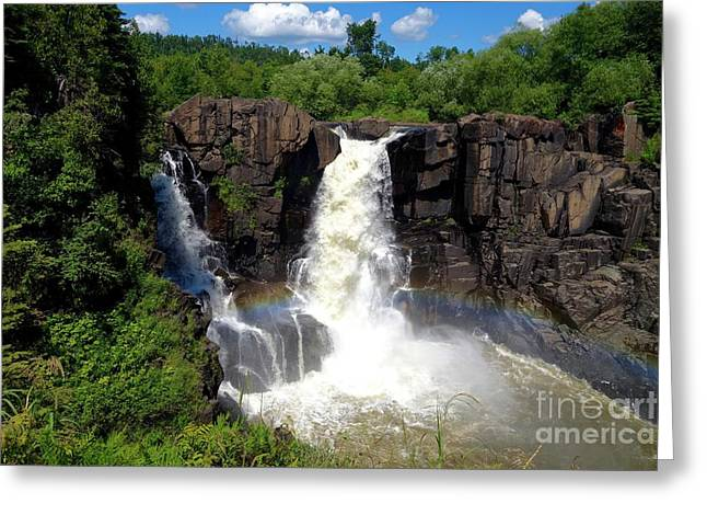 High Falls On Pigeon River Greeting Card