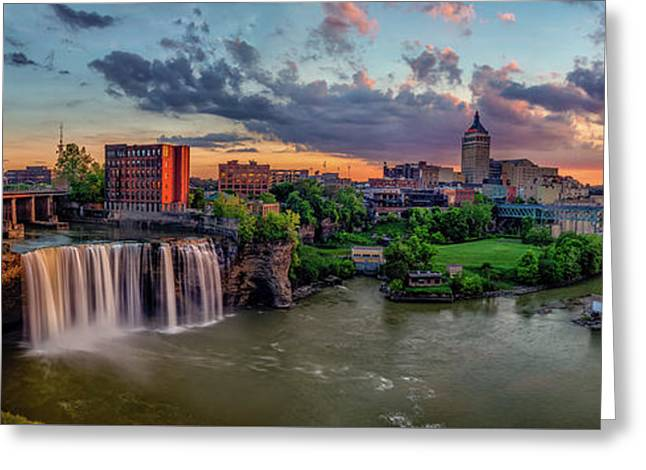 High Falls Panorama Greeting Card by Mark Papke
