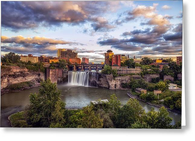 High Falls Rochester Greeting Card by Mark Papke