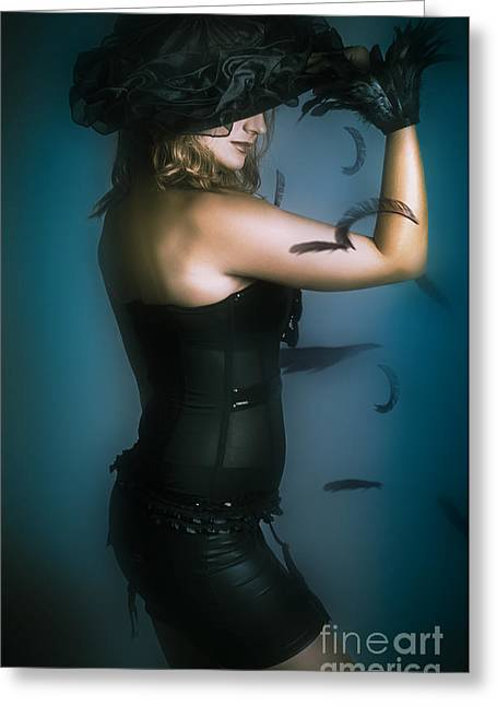 High Fashion Female Mystery Dancer Greeting Card by Jorgo Photography - Wall Art Gallery