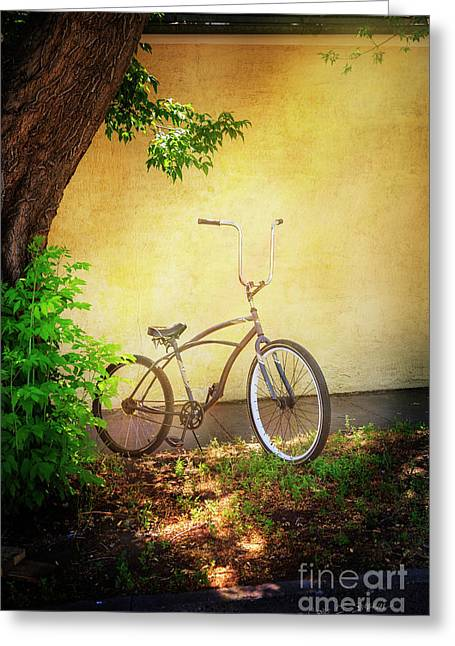 Greeting Card featuring the photograph High Handle-bar Bicycle by Craig J Satterlee