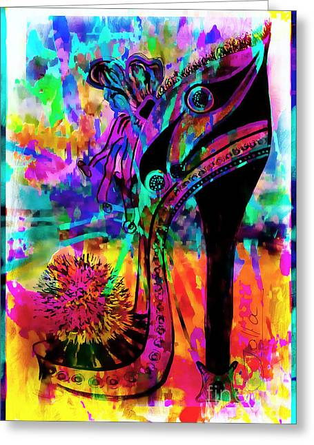 High Heel Heaven Abstract Greeting Card